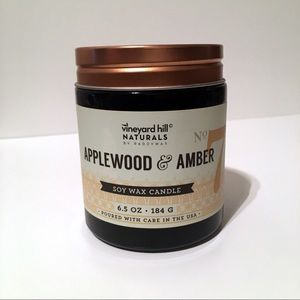 Vineyard Hill Applewood & Amber Soy Wax Candle